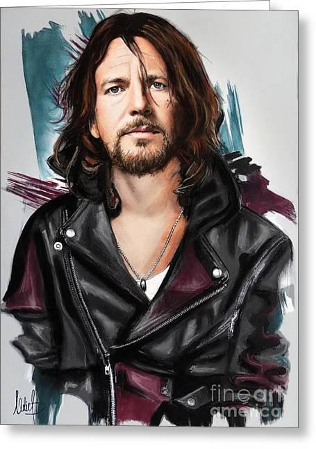 Eddie Vedder Greeting Card by Melanie D