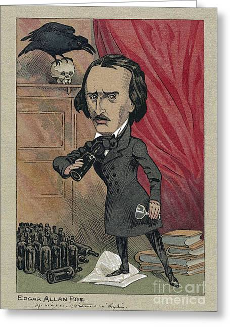 American Story Art Greeting Cards - Edgar Allan Poe, American Author Greeting Card by Folger Shakespeare Library