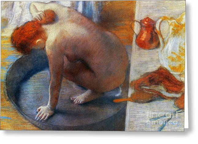 Edgar Degas: The Tub, 1886 Greeting Card by Granger