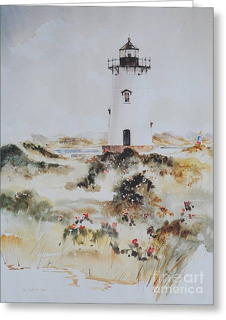 Edgartown Light Marthas Vineyard Greeting Card by P Anthony Visco