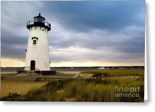 Edgartown Lighthouse Cape Cod Greeting Card by Matt Suess