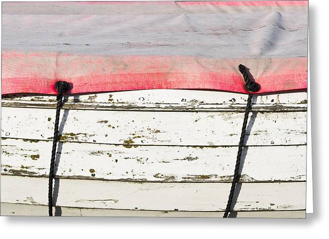 Take-out Photographs Greeting Cards - Edge of a boat Greeting Card by Tom Gowanlock