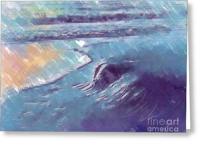 Sea Pastels Greeting Cards - Edge of The Sea Greeting Card by Deborah MacQuarrie