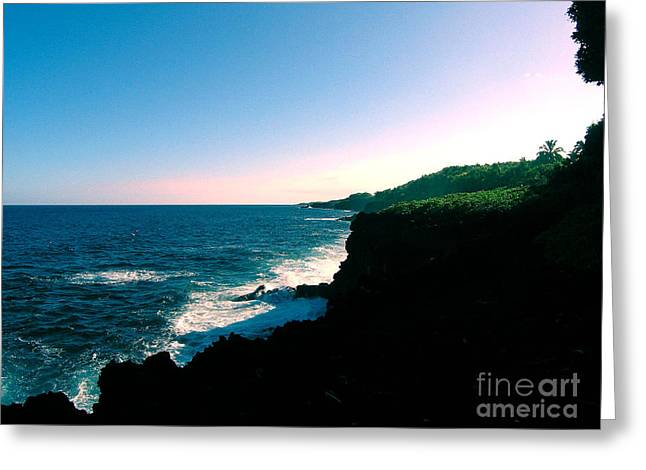 Edge Of The World Greeting Card by Silvie Kendall