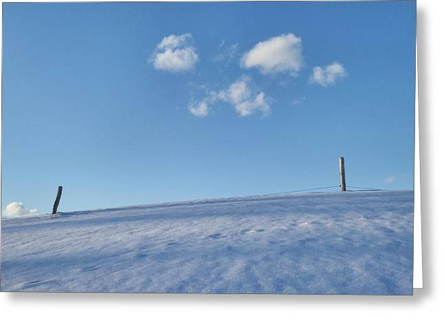 Drifting Snow Greeting Cards - Edge of Winter 2 Greeting Card by Mark J Curran
