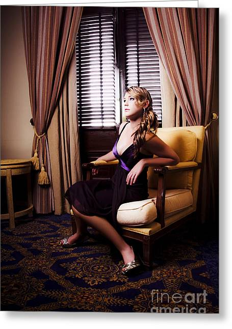 Lavish Dress Greeting Cards - Edge Of Your Seat Entertainment Greeting Card by Ryan Jorgensen