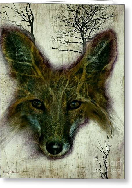 Wild Life Drawings Greeting Cards - Edgy Fox Greeting Card by Craig Williams