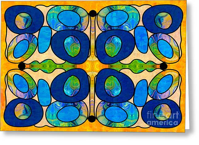 Hand Drawn Greeting Cards - Edible Extremes Abstract Bliss Art by Omashte Greeting Card by Omaste Witkowski
