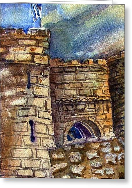 Castle Gates Greeting Cards - Edinburgh Castle Greeting Card by Mindy Newman