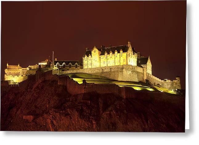Vinatge Greeting Cards - Edinburgh Castle Greeting Card by Svetlana Sewell