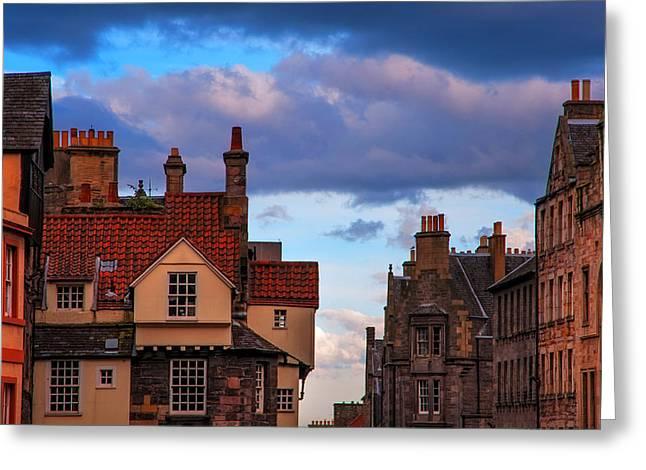 Edinburgh Fairytale Greeting Card by Jenny Rainbow