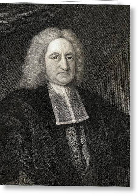 Halley Greeting Cards - Edmond Halley, 1656-1742. English Greeting Card by Ken Welsh