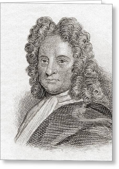Halley Greeting Cards - Edmond Halley, 1656 To 1742. English Greeting Card by Ken Welsh