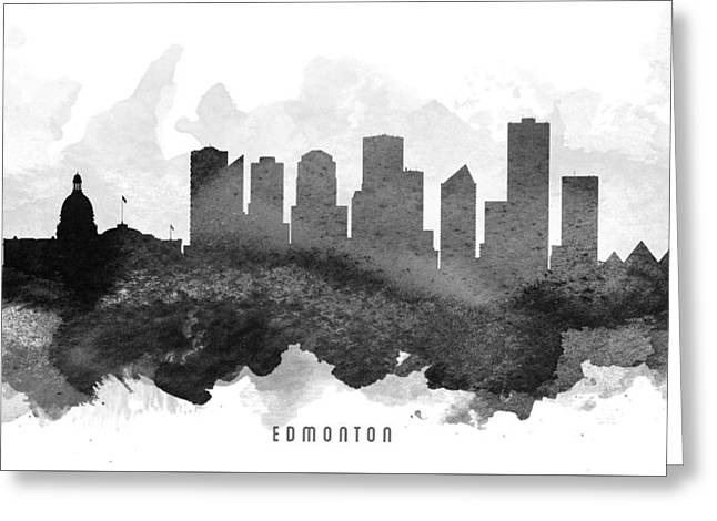 Edmonton Greeting Cards - Edmonton Cityscape 11 Greeting Card by Aged Pixel