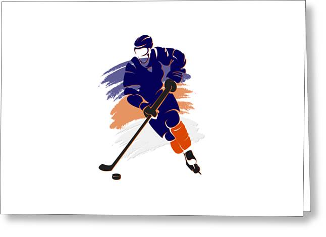 Ice-skating Greeting Cards - Edmonton Oilers Player Shirt Greeting Card by Joe Hamilton