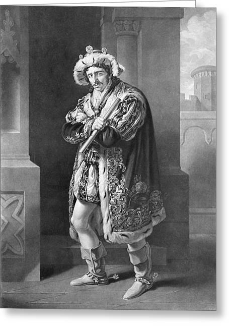 Act Iii Greeting Cards - Edmund Kean 1787 To 1833 English Actor Greeting Card by Ken Welsh