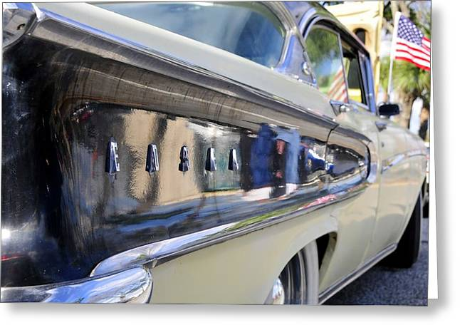 Antic Car Greeting Cards - Edsel on parade Greeting Card by David Lee Thompson
