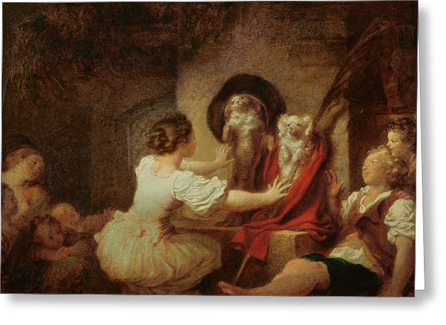 Doggies Greeting Cards - Education is All Greeting Card by Jean-Honore Fragonard