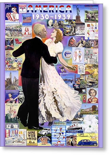 Franklin Roosevelt Paintings Greeting Cards - Edward and Betty Greeting Card by Bobette Stanbridge