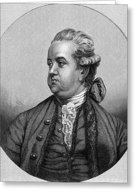 Edward Gibbon Greeting Cards - Edward Gibbon, English Historian Greeting Card by Middle Temple Library