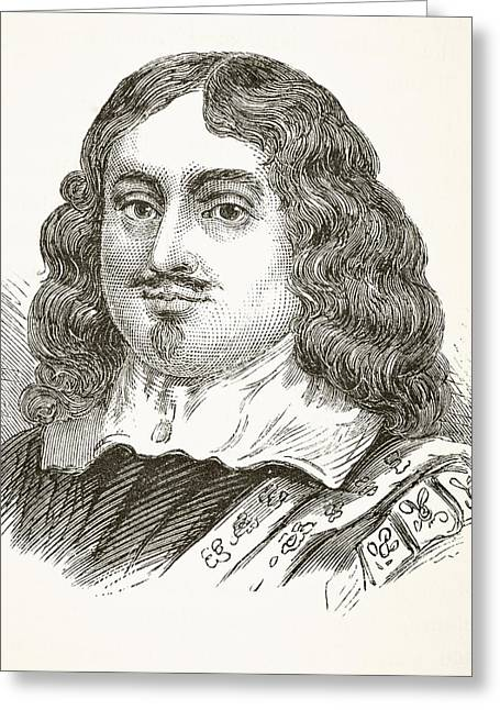 Chancellor Drawings Greeting Cards - Edward Hyde, 1st Earl Of Clarendon 1609 Greeting Card by Ken Welsh