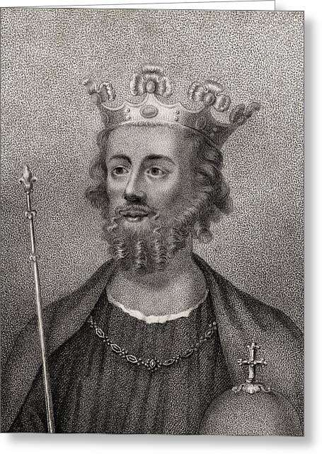 British Royalty Greeting Cards - Edward Ii Of Caernarfon 1284  1327 King Greeting Card by Ken Welsh