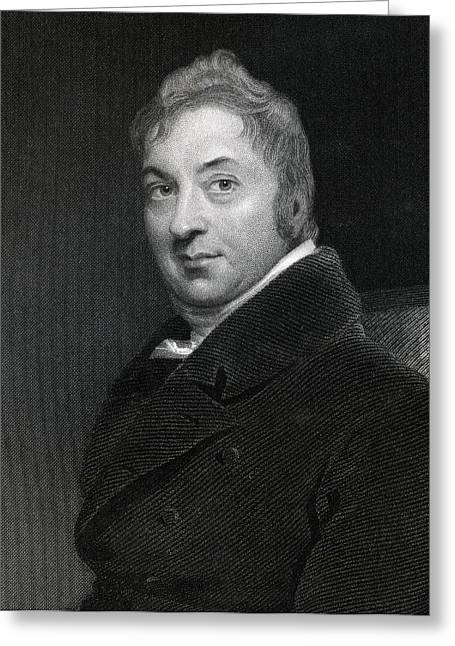 Discoverers Greeting Cards - Edward Jenner 1749-1823 English Surgeon Greeting Card by Ken Welsh