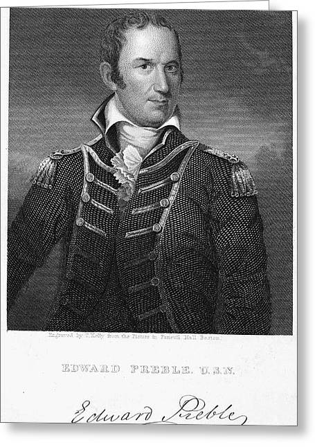 Sideburns Photographs Greeting Cards - Edward Preble (1761-1807) Greeting Card by Granger