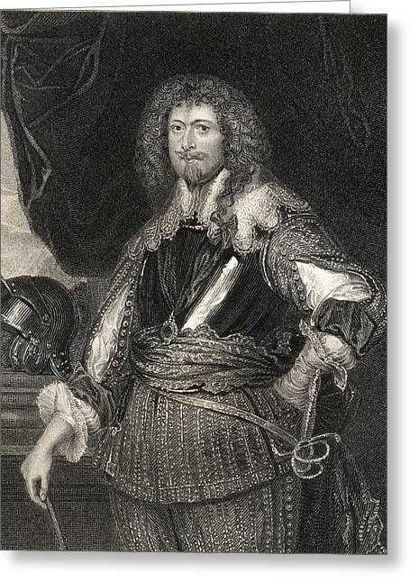 4th Drawings Greeting Cards - Edward Sackville, 4th. Earl Of Dorset Greeting Card by Ken Welsh