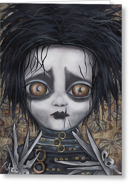 Edward Scissorhands Greeting Card by Abril Andrade Griffith