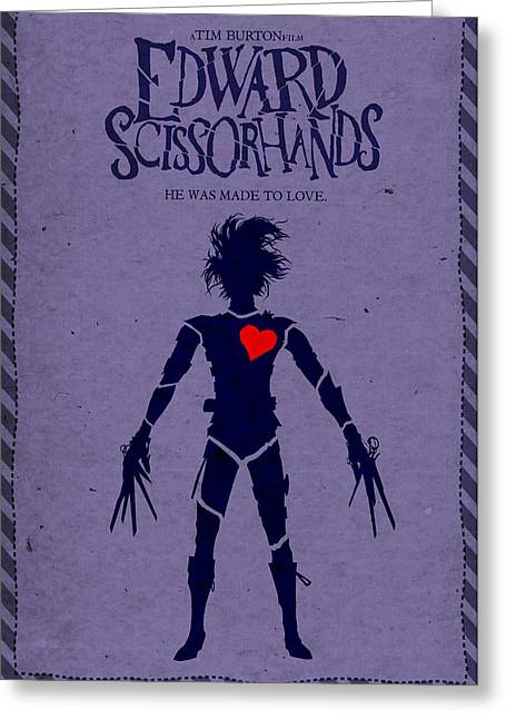 Edward Scissorhands Alternative Poster Greeting Card by Christopher Ables