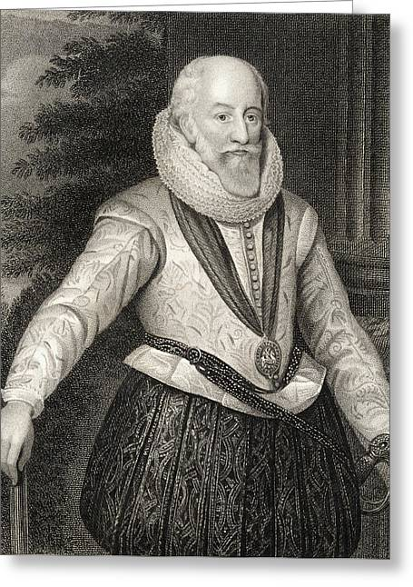 4th Drawings Greeting Cards - Edward Somerset 4th Earl Of Worcester Greeting Card by Ken Welsh