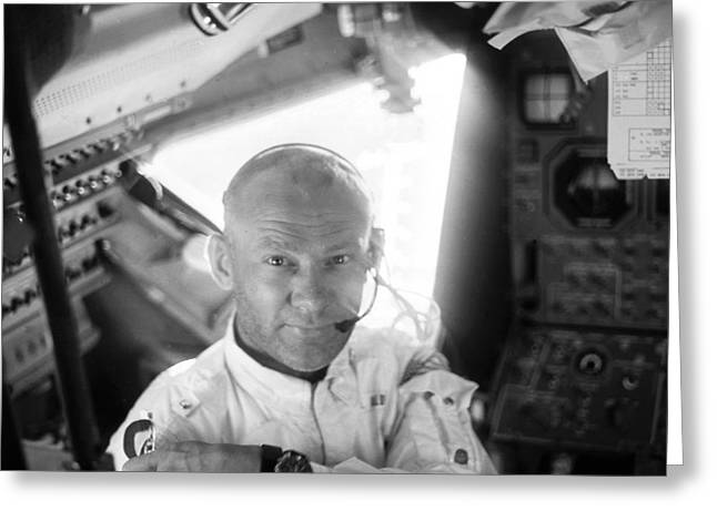 Buzz Greeting Cards - Edwin Buzz Aldrin (1930-) Greeting Card by Granger