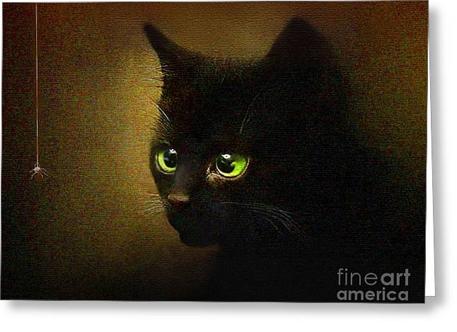 Kitten Prints Greeting Cards - Eensy Weensy Greeting Card by Robert Foster