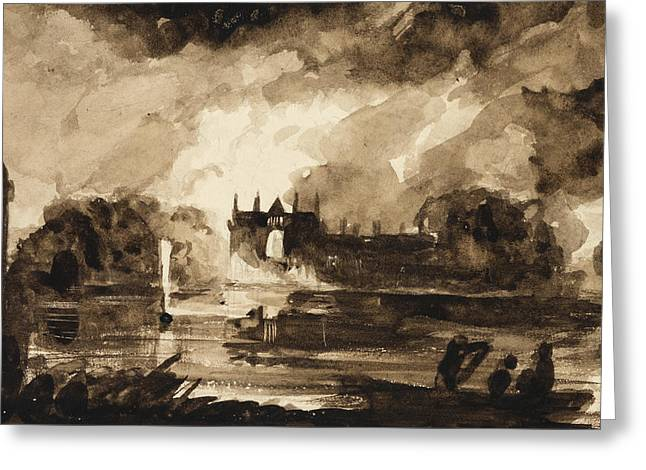 Effect For Newstead Abbey Greeting Card by Thomas Cole
