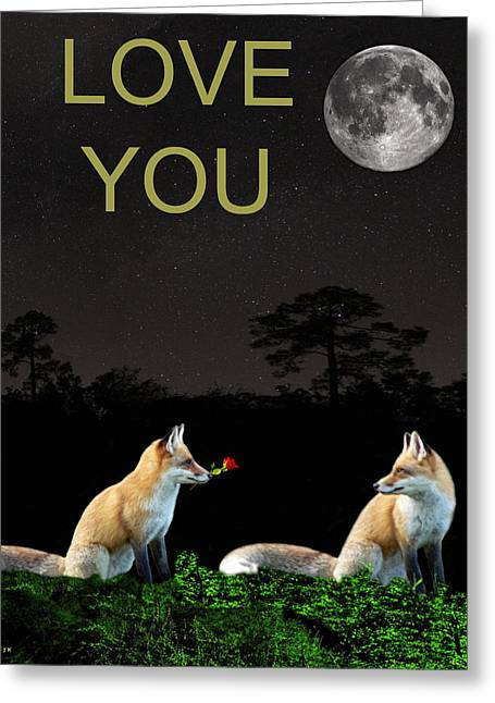 Special Occasion Greeting Cards - Eftalou Foxes LOVE YOU Greeting Card by Eric Kempson