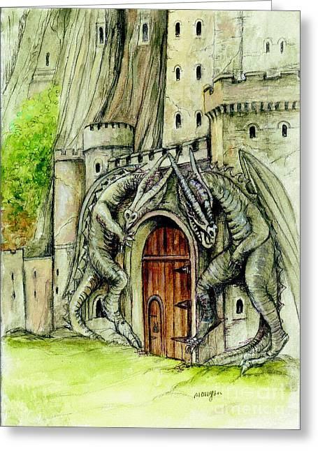 Art Book Greeting Cards - Egberts Gate Greeting Card by Morgan Fitzsimons