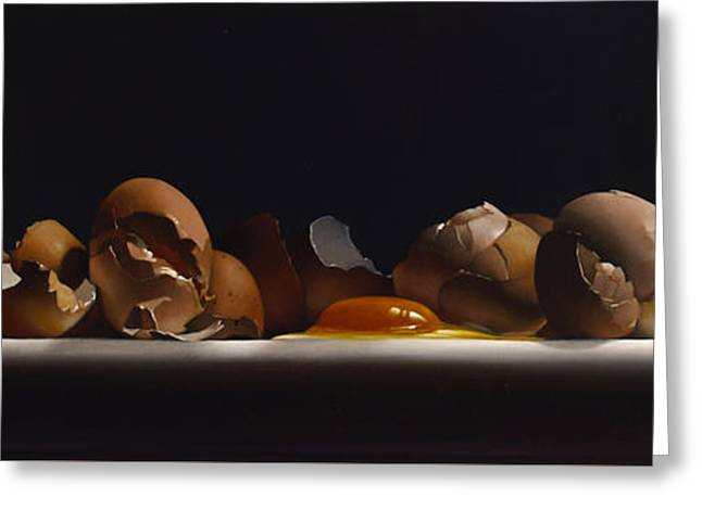 Yoke Greeting Cards - EGG AND SHELLS no.7  Greeting Card by Larry Preston