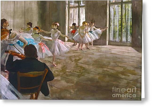 Egg Tempera Greeting Card by Edgar Degas