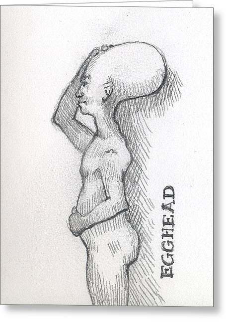 Eggheads Greeting Cards - Egghead Greeting Card by Robert Bissett
