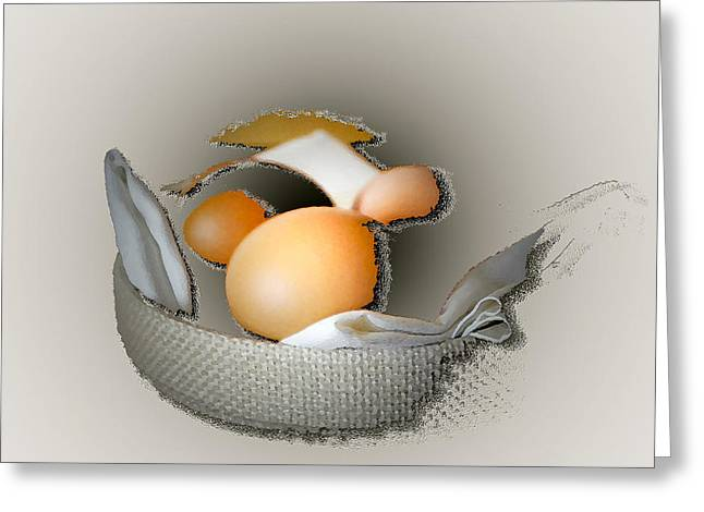 Abstract Digital Photographs Greeting Cards - Eggs 2 Greeting Card by Lana Art