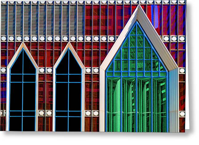 Art Of Building Greeting Cards - Eglise Verre Greeting Card by Paul Wear