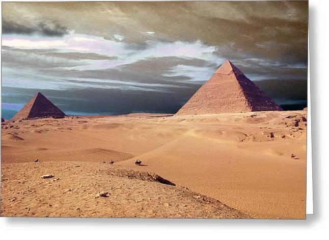 Pyramids Greeting Cards Greeting Cards - Egypt Eyes Greeting Card by Munir Alawi