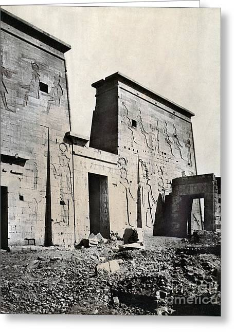 Isis Greeting Cards - Egypt: Temple Of Isis Greeting Card by Granger