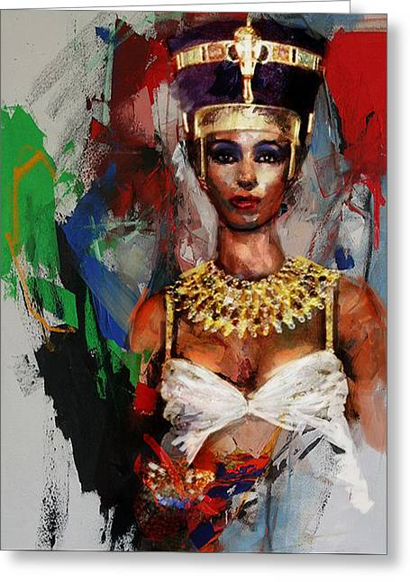 Pyramids Paintings Greeting Cards - Egyptian Culture 10 Greeting Card by Mahnoor Shah