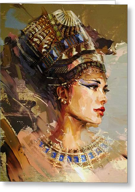 Egyptian Culture 11 Greeting Card by Maryam Mughal