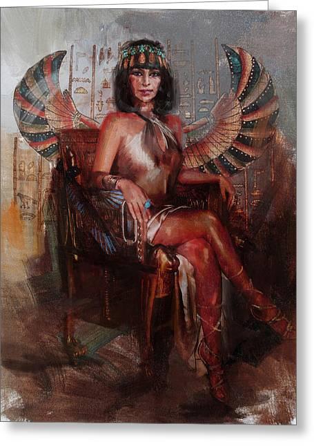 Egyptian Culture 13b Greeting Card by Maryam Mughal