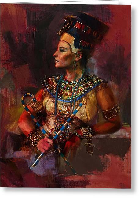Egyptian Culture 15b Greeting Card by Maryam Mughal