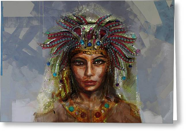 Pyramids Greeting Cards - Egyptian Culture 19 Greeting Card by Mahnoor Shah