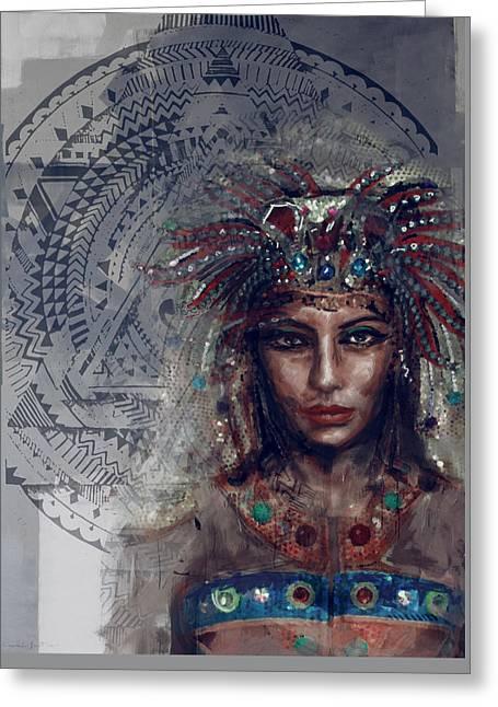Pharaoh Greeting Cards - Egyptian Culture 19b Greeting Card by Mahnoor Shah